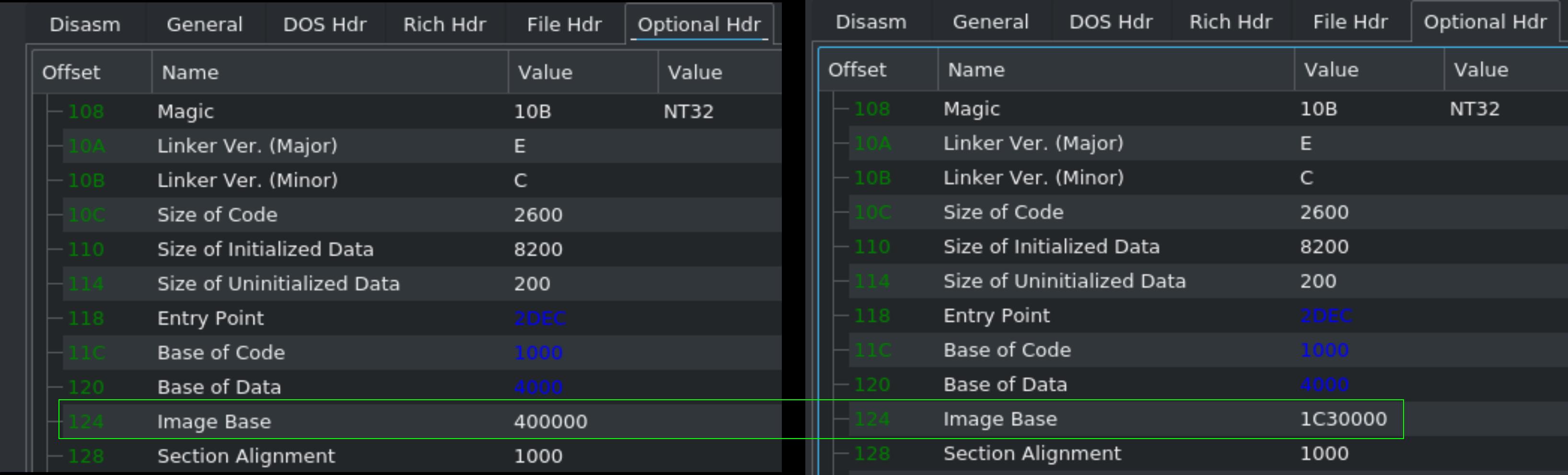 Image Base Adjustment