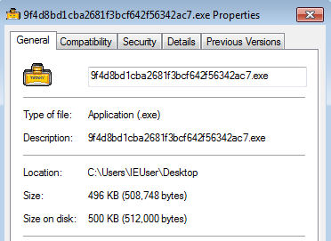 Properties of the Executable