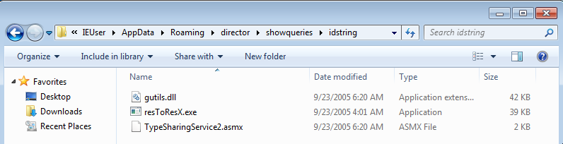 Dropped files in %APPDATA%\Roaming