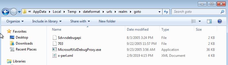 Dropped files in %APPDATA%\Local\Temp